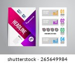 vector business flyer template... | Shutterstock .eps vector #265649984