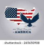 usa design over white... | Shutterstock .eps vector #265650908