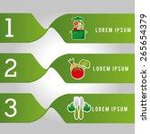 healthy food infographics... | Shutterstock .eps vector #265654379