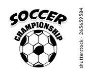 soccer sport design  vector... | Shutterstock .eps vector #265659584