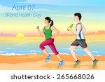vector illustration of couple... | Shutterstock .eps vector #265668026