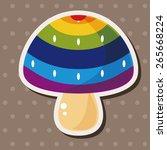 mushroom cartoon theme elements ... | Shutterstock .eps vector #265668224