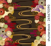 japanese motif background | Shutterstock .eps vector #265670390