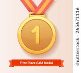 first place award gold medal... | Shutterstock .eps vector #265671116