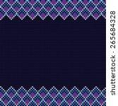 vector knitted background.... | Shutterstock .eps vector #265684328