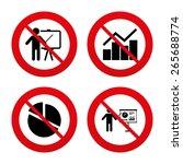 no  ban or stop signs. diagram... | Shutterstock .eps vector #265688774
