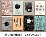 set of vintage creative cards... | Shutterstock .eps vector #265691834