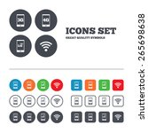 mobile telecommunications icons.... | Shutterstock .eps vector #265698638