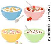 vector illustration set of four ...   Shutterstock .eps vector #265703534