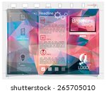 brochure design. colorful... | Shutterstock .eps vector #265705010