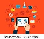 background with flat design... | Shutterstock .eps vector #265707053