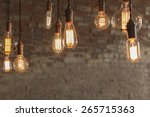 decorative antique edison style ... | Shutterstock . vector #265715363