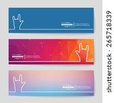 abstract creative concept... | Shutterstock .eps vector #265718339
