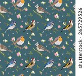 seamless pattern with cute... | Shutterstock .eps vector #265729526