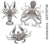 Zentangle Stylized Octopus ...