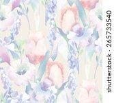 spring bouquet seamless pattern | Shutterstock . vector #265733540