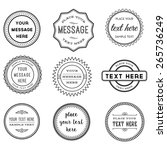 vector set of retro stamps and... | Shutterstock .eps vector #265736249