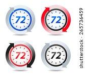 vector 72 hours | Shutterstock .eps vector #265736459