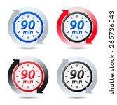 vector 90 minutes | Shutterstock .eps vector #265736543