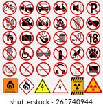 set of  signs for different...   Shutterstock .eps vector #265740944