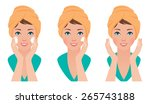 vector illustration set girl...
