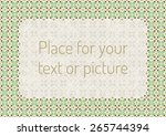 abstract geometric floral... | Shutterstock .eps vector #265744394
