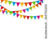party background with flags...   Shutterstock .eps vector #265752203