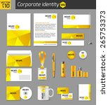 corporate identity business... | Shutterstock .eps vector #265753373