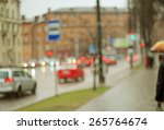 blurred city street background | Shutterstock . vector #265764674