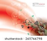 red abstract background with... | Shutterstock .eps vector #265766798