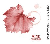 concept design for a wine list. ... | Shutterstock .eps vector #265771364