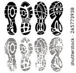 vector set of shoe tracks | Shutterstock .eps vector #265773938
