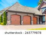 triple doors garage with wide... | Shutterstock . vector #265779878
