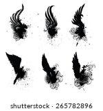 wings grunge set