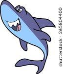 happy cute shark character | Shutterstock .eps vector #265804400