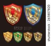 vector   gold metallic 100 ... | Shutterstock .eps vector #265807820
