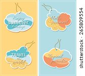 set of vector tags with text... | Shutterstock .eps vector #265809554