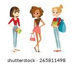fashion teenage girls | Shutterstock .eps vector #265811498
