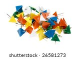 plastic colored tacks isolated... | Shutterstock . vector #26581273