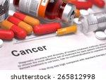 cancer diagnosis. medical... | Shutterstock . vector #265812998
