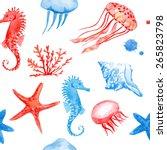 Watercolor Sea Animals....