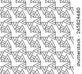 seamless triangle pattern ... | Shutterstock .eps vector #265824680