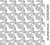 seamless triangle pattern ... | Shutterstock .eps vector #265824680
