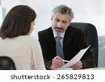 Stock photo attorney meeting client in office 265829813