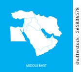 middle east map | Shutterstock .eps vector #265836578