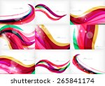 purple rainbow swirl background ... | Shutterstock .eps vector #265841174