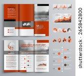 classic brochure template... | Shutterstock .eps vector #265842800