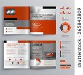 classic brochure template...   Shutterstock .eps vector #265842809