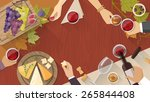 wine and cheese tasting party...   Shutterstock .eps vector #265844408