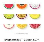 tropical fruit flat design ... | Shutterstock .eps vector #265845674